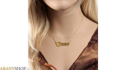 neves arany nyaklánc